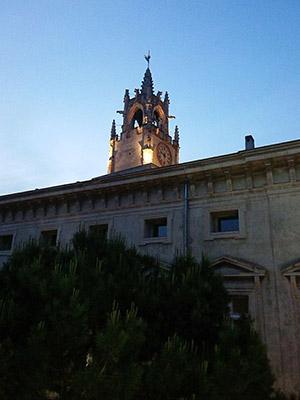 部屋から見えた市庁舎の時計台